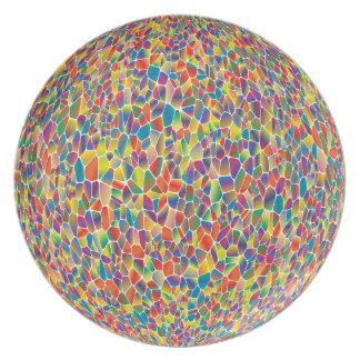 Colorful abstract Orb Plate