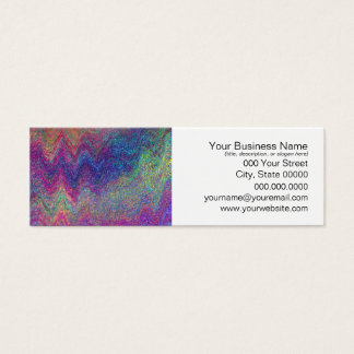 Colorful Abstract Painting Mini Business Card