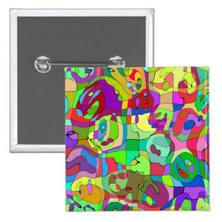 colorful abstract pattern buttons