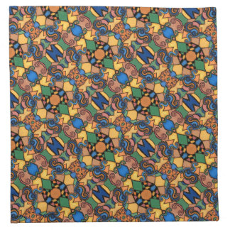 Colorful Abstract Pattern Bright Colors Napkin