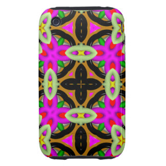 Colorful abstract pattern iPhone 3 tough case