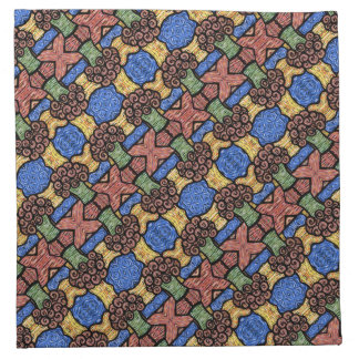Colorful Abstract Pattern Floral Bright Colors Napkin
