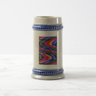 Colorful abstract pattern 18 oz beer stein