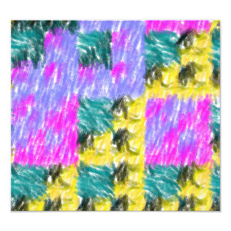 Colorful abstract pattern photo print