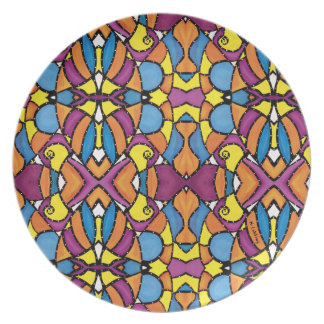 Colorful Abstract  Pattern Plate