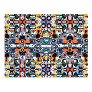 Colorful Abstract Pattern Postcard