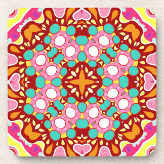 Colorful Abstract Pattern - Set of 6 Drink Coaster
