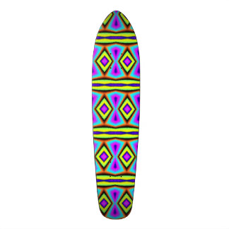 Colorful abstract pattern skate board