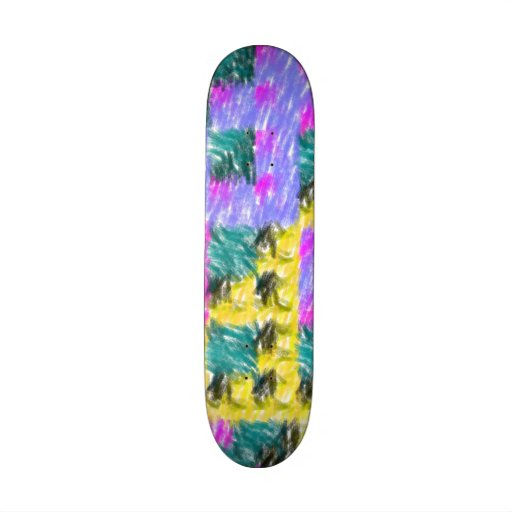 Colorful abstract pattern skateboard decks