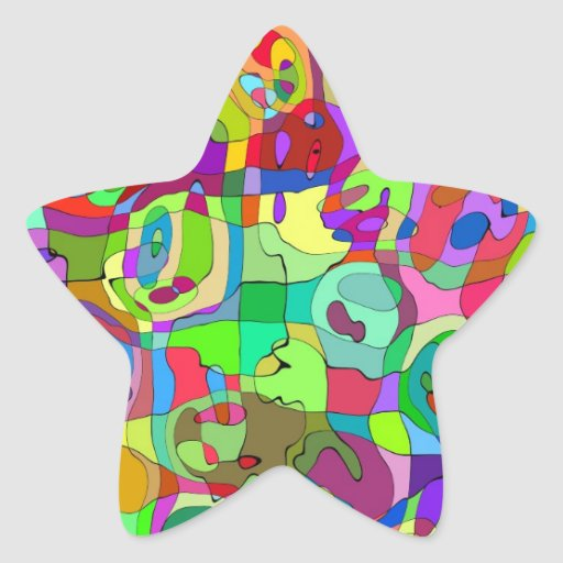 colorful abstract pattern star Sticker