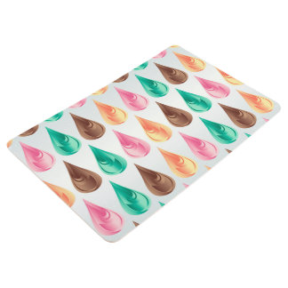 Colorful Abstract Pink Green Brown & Orange Drops Floor Mat