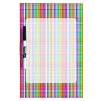 Colorful abstract plaid pattern dry erase whiteboard