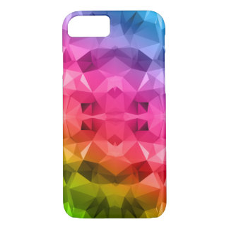 Colorful Abstract Polygonal / Low poly art iPhone 7 Case
