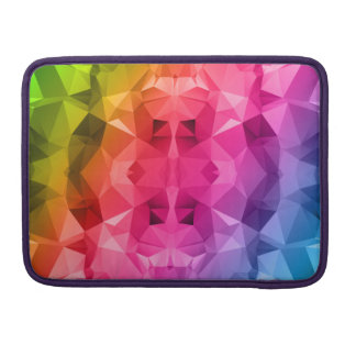 Colorful Abstract Polygonal / Low poly art Sleeves For MacBooks