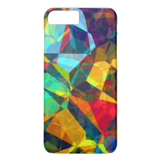 Colorful abstract polygonal pattern case