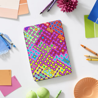 Colorful Abstract Psychedelic Pop Art Pattern iPad Pro Cover