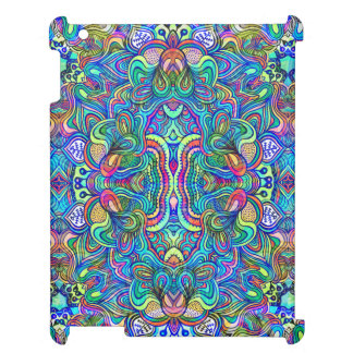 Colorful Abstract Psychedelic Symmetrical Swirls Cover For The iPad 2 3 4
