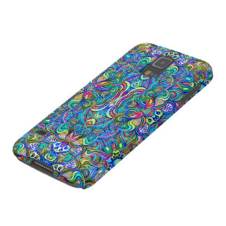 Colorful Abstract Psychedelic Symmetrical Swirls Galaxy S5 Cover