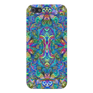 Colorful Abstract Psychedelic Symmetrical Swirls iPhone 5/5S Covers