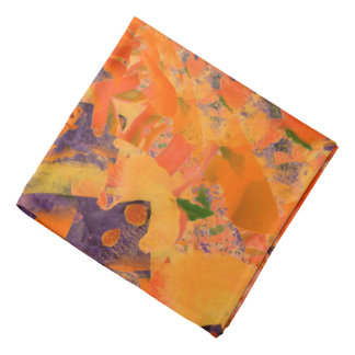 Colorful Abstract Purple And Brown Background Bandana