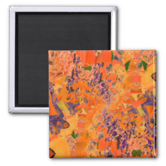 Colorful Abstract Purple And Brown Background Square Magnet