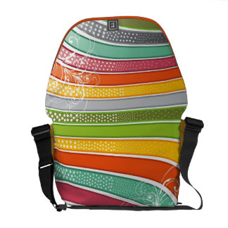 Colorful Abstract Rainbow Swirls Stars Art Vector Commuter Bags