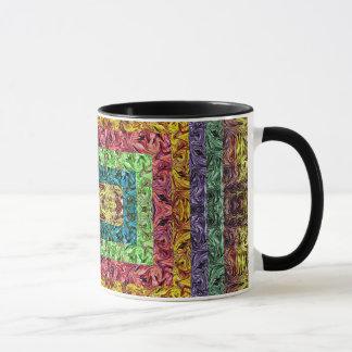 Colorful Abstract Rectangles  Geometric Grid Mug