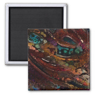 Colorful Abstract Reflective Look Square Magnet