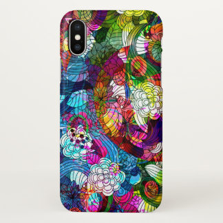 Colorful Abstract Retro Flowers Collage Case