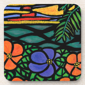 Colorful Abstract Seascape Coaster