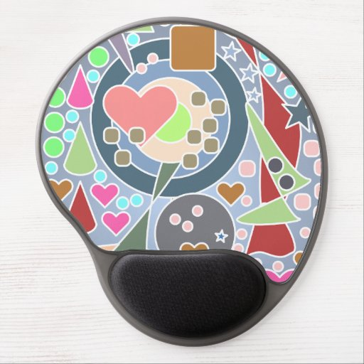 Colorful Abstract Shapes Gel Mouse Mat