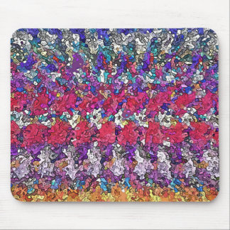 Colorful Abstract Shapes Mouse Pad