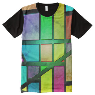 Colorful abstract Shiny Tiles All-Over Print T-Shirt