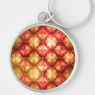 colorful abstract Silver-Colored round key ring