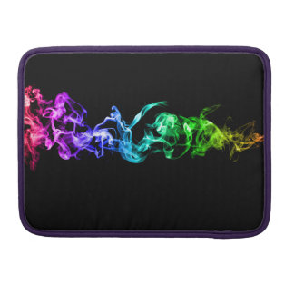 Colorful Abstract Smoke - A Rainbow in the Dark Sleeve For MacBook Pro