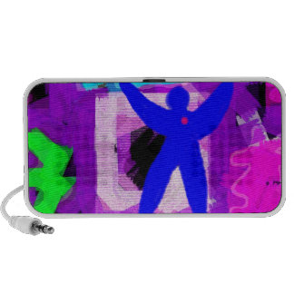 Colorful Abstract iPod Speaker