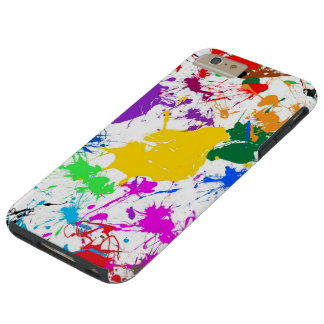 colorful abstract splash art tough iPhone 6 plus case