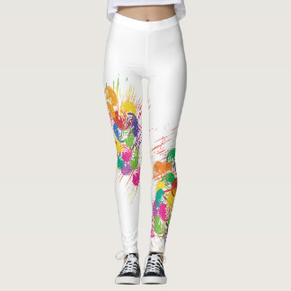 Colorful Abstract Splashes and Splotches Leggings