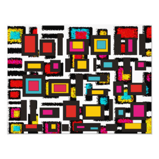 Colorful Abstract Squares Art Art Photo