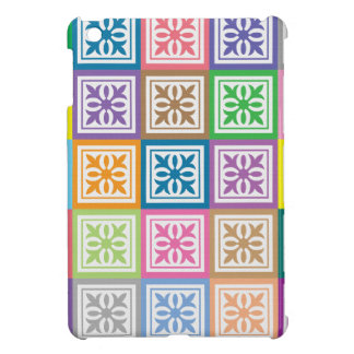 Colorful abstract squares pattern cover for the iPad mini