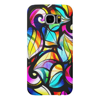 Colorful Abstract Stained Glass Look Design Samsung Galaxy S6 Cases
