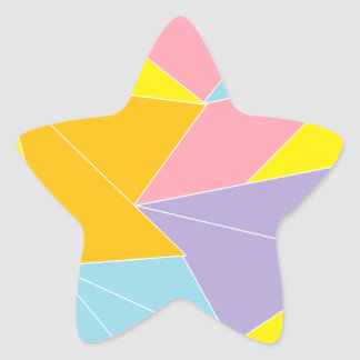 Colorful Abstract Star Sticker