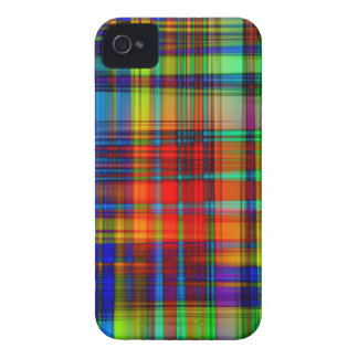 Colorful Abstract Stripes Art iPhone 4 Case