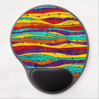 Colorful Abstract Stripes Gel Mouse Pad