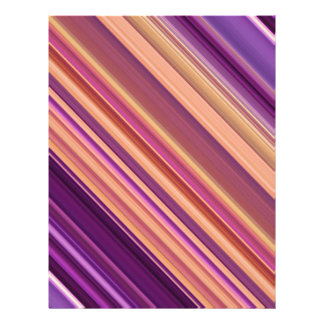 """Colorful abstract stripes pattern 8.5"""" x 11"""" flyer"""