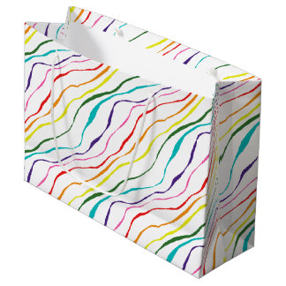 Colorful Abstract  Stripes Pattern Large Gift Bag