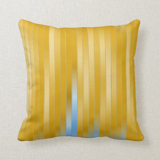 Colorful Abstract Stripes Pillow
