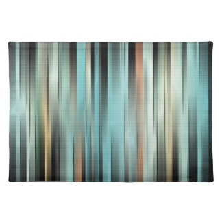 Colorful Abstract Stripes Placemat