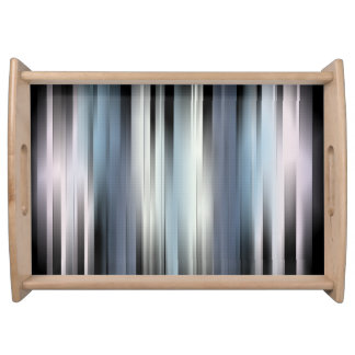 Colorful Abstract Stripes Serving Tray