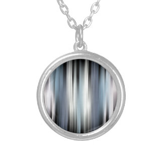 Colorful Abstract Stripes Silver Plated Necklace